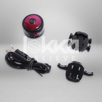 Enfitnix 200 Smart tail light 200% extra visibility more safety for cycling lampu basikal auto terang selamat