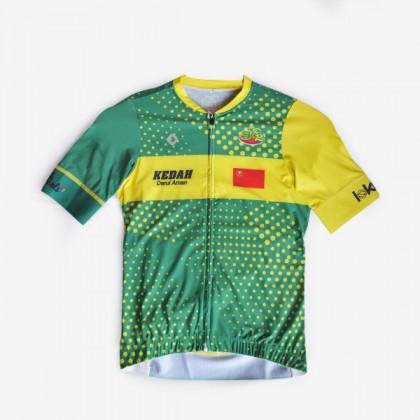 Hijau kuning kedah cycling Jersey baju basikal lokka